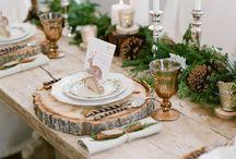Julebord pynt og bordekning