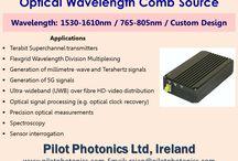 Optical Frequency Comb Source / Pilot Photonics (Ireland) Mfr. of Optical Frequency Comb Source, PIC Comb Source Module & Picosecond Optical Pulse Source Website: www.pilotphotonics.com,  Email: rajan@pilotphotonics.com