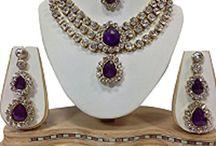 Amazing Bollywood Latest Style Kundan Wedding Necklace Set