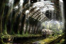 Paysage Post apocalyptique / Post-apocalyptique
