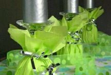 wine glass centrepieces