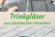 glasflaschen bearbeiten