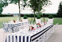 White and Navy Wedding