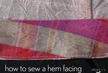 Textil NÄHEN✂Stoff-Schnitte-Nadel-Faden