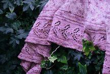 Knit Shawls: leaf lace