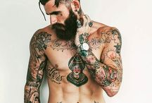Men with beard, tattoo and some models!