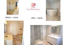 Bathroom before and afters - Salles de bain avant et après