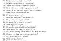 Get to know someone Questionnaire