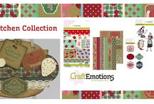 CraftEmotions Fifties Kitchen / A collection matching products for cardmaking, mixed media and more. Available products: decorated paperstack, clearstamps, masks, wooden ornaments