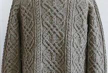 Knitting patterns: one colour/yarn / Mostly cardis and pullovers - one colour / by Pirjo Salo