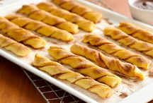 Baked crescent churros