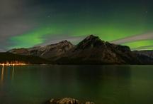 Aurora Borealis / Aurora Borealis, aka the Northern Lights at Sunshine Village and in Banff National Park, Canada.