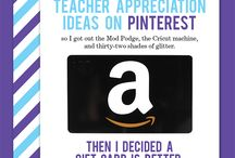 Teacher Gifts / gift ideas to express your gratitute to the school staff at the start of the year, during teacher appreciation week, or at the end of the year. You'll not find apples or crayons here.