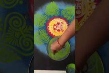 Colourfull rangoli designs