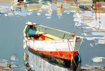 Лодки / Море лодки речка