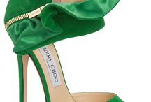 Green Shoes for Shoeaholics / We are green with envy for green pumps, green sandals, green shoes, even green boots.