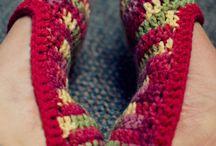 Crochet Tidbits - For the Feet & Fingers - Slippers, Socks, Gloves
