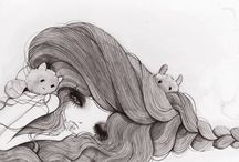 illustrations / Some are mine (search only one eye for mines) and others are from the amazing and genius people I follow in other sites. / by Cerise Lapin