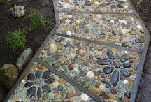 mosaico di sassi