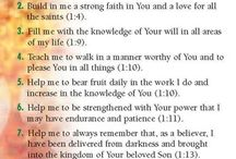 Personal prayers from Colossians