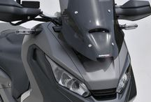 Honda X-ADV 750 S 2017/2018 by Ermax Design / Windshields, rear hugger, aluminium chain guard & license plate support