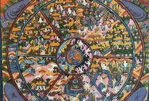 Thangkas / Tibetan/Nepalese paintings on silk or cotton.