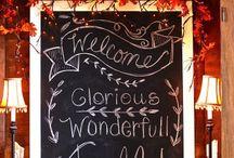 Seasonal Chalkboard ideas / Seasonal Chalkboard Art