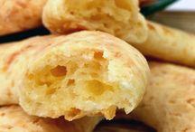Biscoitos, pães e bolos