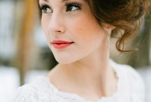 Bridal / Make-up and hairstyle inspiration for wedding day