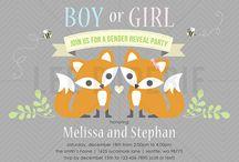 Lee Paperie Gender Reveal Invitations / Custom baby gender reveal party invitations by Lee Arthaus