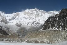 Annapurna Base Camp Trek / The trek begins with the ascent to Poon Hill for the incredible view of the entire Annapurna massif. You then drop down into the Modi Kola valley where you can visit the natural hot springs and relax by the riverside. The approach to the sanctuary is through a sheer faced gorge choked with forests of bamboo, birch and rhododendron. As you enter the sanctuary the dramatic amphitheatre of the Annapurnas suddenly towers above you. Then go explore the surrounding glaciers and view points!