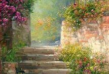 virágos kertek teraszok