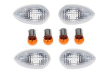 Motorcycle indicator clear lenses