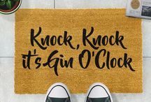 Alcohol Typography Doormat Collection