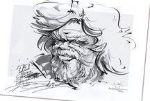 Promi-Portrait-Karikatur