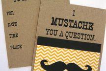 Moustache party ideas / by Sasha Fry