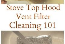 clean stove top vent
