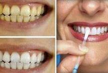 Blanquear y cuidar dientes.