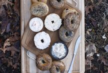 Bagels and Cream Cheese / We're excited about our new in-house bagel production and our hand-crafted flavored cream cheese spreads so we've made a board in honor of the favorite breakfast duo. / by Weaver Street Market
