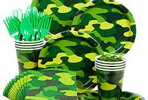 Paintball Theme Party / One of the new themes for your son/daughter is a paintball party. Don't worry here are some of the best ideas to throw the best party yet.
