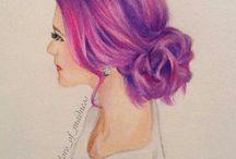Hair Drawings Part 2❤