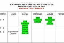 Mi horario licenciatura en sociales Erikxon