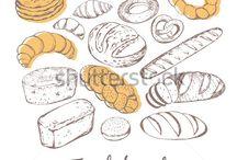 pastry illustrations