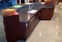 Concrete Countertops / Concrete counters. Ordinary to unique. Refined to rough.