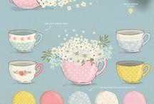 tea themed illustration