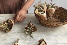 bukiety z suchych kwiatów i ziół