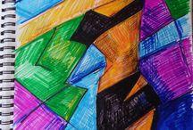 Rysunek / Rysunki  i szkice  utorstwa Gabrieli Hezner