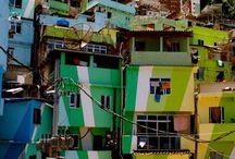 Kleurrijke favela's