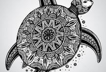 Zentangle & Mandalas / Zentangle patterns and mandala circles.