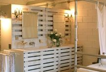 Pallets and other recup deco for Woody Cape / Recycling pallets in cheap trendy solid furnitures Recup ideas